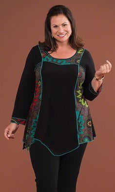 Cressida Tunic / MiB Plus Size Fashion for Women / Fall Fashion http://www.makingitbig.com/product/4973