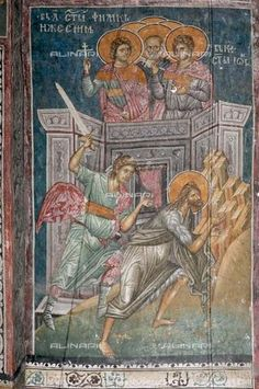 The Beheading of Saint John the Baptist, ca 1350, Fresco, Anonymous, Visoki Decani monastery, Kosovo