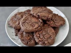 Think low carb brownie meets perfect keto cookie. It's a marriage made in chocolate heaven.Keto Flourless Chewy Double Chocolate Chip Cookies