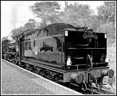 The Jacobite Steam Train.