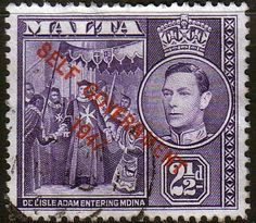 Malta 1948 King George VI Self Government SG 238 Fine Used SG 239 Scott 213 Other british Commonwealth Stamps here