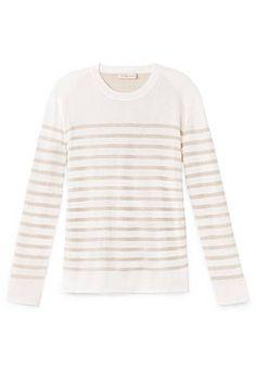 The 20 Best Summer Sweaters - Elle Tory Burch Landon Sweater $250 toryburch.com