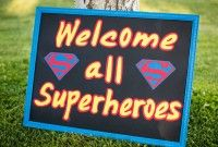 Superman Welcome To Party Sign