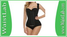 Ekouaer Women's Mesh Steel Boned Waist Cincher Vest 6 Row Hooks Shapewear Review ~ WaistLab