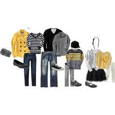 yellow, gray, black, white