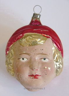 antiker Flapper Girl Glaskopf