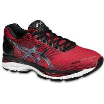 9280ff6e79e Asics Gel-Nimbus 18 Red Black Shoes Knock off the kilometres in the GEL- NIMBUS the long-distance running shoe with huge amounts of cushioning.