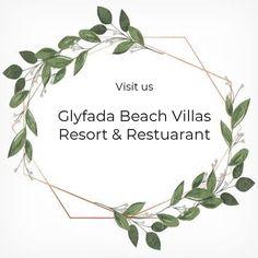 Glyfada Beach Villas provides the best facilities like 2 swimming Pools, Tennis Court, Greek Taverna, minibus service, Museum etc. Greek Restaurants, Beach Villa, Resort Villa, Greek Recipes, Villas, Swimming Pools, Lunch, Traditional, Dinner