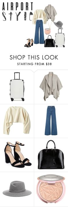 """""""airport syle"""" by ahdelnosh on Polyvore featuring CalPak, Burberry, Uniqlo, Solace, Nasty Gal, Louis Vuitton, David Yurman and airportstyle"""