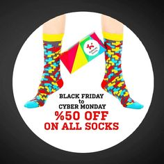 Don't miss the sale Black Friday to Cyber Monday %50 off on your orders from November 25th to 28th #BallonetSocks #ballonet #socks #fashion #menstyle #sockgame #sockswag #colors #blackfriday #cybermonday #blackfriday2016  #cybermonday2016 #sale #london #sale #secretsanta #secretsantagift #giftideas #holiday #christmas #christmasgift #giftbox