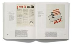 Page spread from 'I swear I use no art at all' - monograph on artist Hendrik Nicolaas Werkman (design by Joost Grootens)