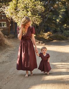 mama + babe I burgundy dot Mom And Baby Outfits, Mommy And Me Dresses, Mother Daughter Dresses Matching, Mother Daughter Fashion, Mom Dress, Mom Daughter, Little Girl Dresses, Kids Outfits, Mother Baby Photography