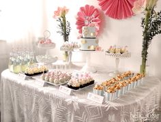 dessertbord - Lilly is Love Candy Table, Dessert Table, Summer Party Decorations, Table Decorations, First Anniversary Quotes, A Little Party, Christening, Party Time, Brunch