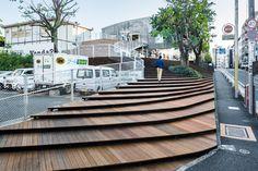 La Kagu by Kengo Kuma I don't want wood but I love the idea of shallow cascading steps