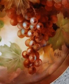 Fruit Painting, China Painting, Decoupage, China Porcelain, Painted Porcelain, Limoges China, Dragonfly Art, Famous Artists, Painting & Drawing