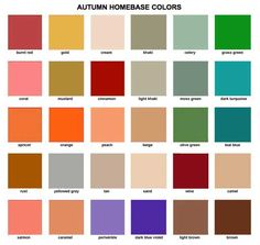 autumn wardrobe colors | Autumn Clothing Colors Colours: soft autumn