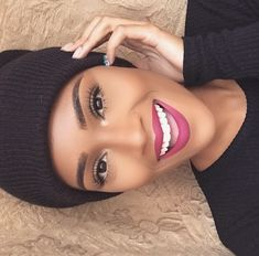 ♥ Black Beauties All The Way ♥ Gorgeous makeup idea eyebrows on fleek Flawless Face, Flawless Makeup, Gorgeous Makeup, Love Makeup, Makeup Style, Perfect Makeup, All Things Beauty, Beauty Make Up, Hair Beauty