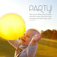 Bondville: Party Ideas: Liam's 1st Birthday Party at Sydney Park