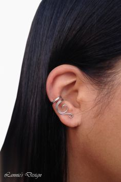 A personal favorite from my Etsy shop https://www.etsy.com/listing/246618586/silver-ear-cuff-no-piercing-cartilage