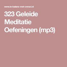 323 Geleide Meditatie Oefeningen (mp3)