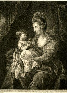 Portrait of Lady Elizabeth Pennyman with her daughter   Publish'd 11 June 1772  The British Museum Accession Number 1902, 1011.2342