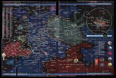 another version of the Star Trek Universe.star trek is like religion, everyone has their own version! Star Trek Online, Gotham City, Legend Of Zelda, Aliens, Science Fiction, Cyberpunk, Deep Space Nine, Galaxy Map, Star Trek Generations