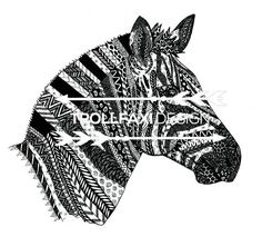 Download Print  Zebra PDF  Safari Drawing  Zebra Art