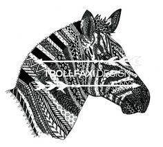 Download Print  Zebra PDF  Safari Drawing  Zebra Art