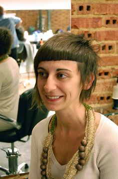 short fringe hairstyle    by wip-hairport, via Flickr