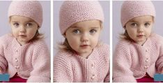Put this sweet Strawberry Pink knitted set on your little one. It consists of a charming knit cardigan and a cute knitted hat. Get the FREE pattern for . Baby Knitting Free, Knitting Patterns Free, Free Pattern, Knitting Ideas, Knit Crochet, Crochet Hats, Blanket Coat, Baby Bundles, Baby Hats