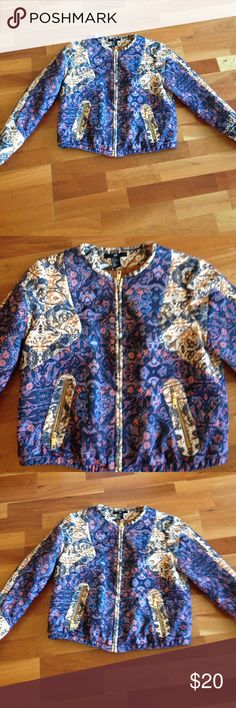 H&M jacket zip bomber Cool fall winter trend jacket from H&M quilted size 8 H&M Jackets & Coats