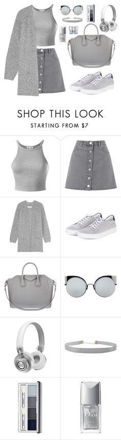 """""""Без названия #46"""" by sinyukovayulya ❤ liked on Polyvore featuring Miss Selfridge, By Malene Birger, Barbour, Givenchy, Fendi, Master & Dynamic, Humble Chic, Clinique, Christian Dior and GlamGlow"""