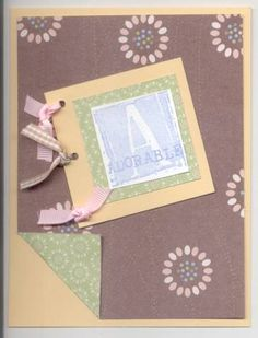 A= adorable by GavynnsMom - Cards and Paper Crafts at Splitcoaststampers Quick Cards, Paper Crafts, Frame, Decor, Picture Frame, Decoration, Tissue Paper Crafts, Frames, Dekoration