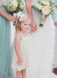 Flower girl Beach Wedding Ceremony Inspiration | Emerald Coast Destination Wedding Photographer | The Jacksons Photography