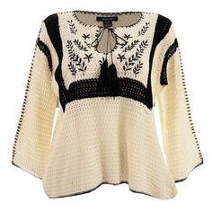Resultado de imagen para capas tejidas Moda Crochet, Crochet Cardigan, Knit Crochet, Crochet Woman, Poncho Sweater, Crochet Fashion, Pullover, Beautiful Crochet, Crochet Clothes
