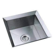 $1075.05 /each KOHLER Poise Undercounter Stainless Steel 18x18x9.5 0 Hole  Single Bowl