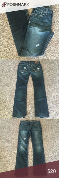 BKE Aiden Jeans size 32 Lightly worn BKE Aiden jeans size 32. Some wear on back of hems. Comes from a smoke free animal free home. BKE Jeans Bootcut