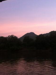 Kanchanaburi, Thailand at sunset