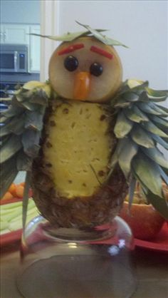 Pineapple Owl Centerpiece