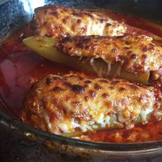 Hot Sausage Stuffed Banana Peppers are spicy and addicting. The flavors mellow so well together and best of all -- they're so simple!