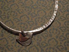 """Pulsera de plata y cobre """"me lo dijo un pajarito"""" detalle"""