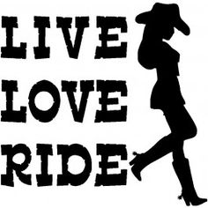 Live Love Ride Decal