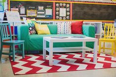 Again, I know this room may not be new to some of you. I decided to reveal this room back in October. For those of you new to Schoolgirl Style…WELCOME! As the year is winding down, I can& Classroom Layout, Classroom Setting, Classroom Design, Kindergarten Classroom, School Classroom, Classroom Themes, Classroom Organization, Science Classroom, Class Decoration