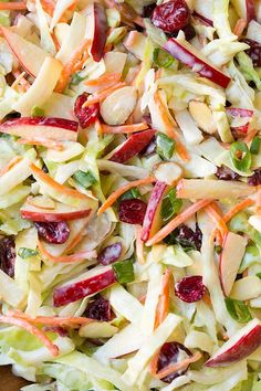 Apple Cranberry Almond Coleslaw!!