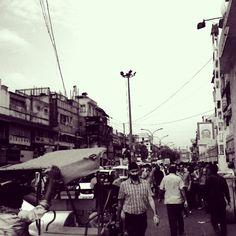 Old Delhi, Black and white shot. Photo by: Ditte Lindharth Tellgren