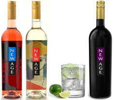 "New Age Red Joins Its Siblings...New Age Rose and New Age White (the original ""cocktail wine"" best served over ice with a squeeze of lime)...as a trio of refreshing, effervescent Argentine sippers.  (PRNewsFoto/Quintessential)"