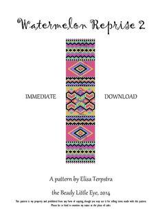 Peyote+Pattern+Bracelet+Peyote+Stitch+Beading+by+TheBeadyLittleEye