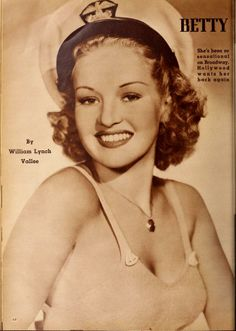 Betty Grable, pin-up queen, in Silver Screen (Jun-Oct 1940)