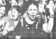 Chicanas protesting in mid 1970's; Used as the cover of the Los Angeles Times in 1998.  Photo credit: Rick Meyers of LA Times; Does anyone have any more context for this image?