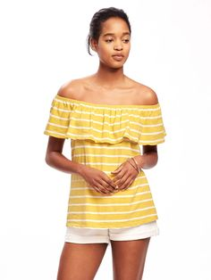 Relaxed Off-the-Shoulder Swing Top for Women   Old Navy